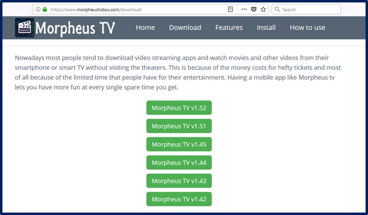 Morpheus TV For PC | Download Morpheus TV v1 54 for Any Windows 7, 8, 10