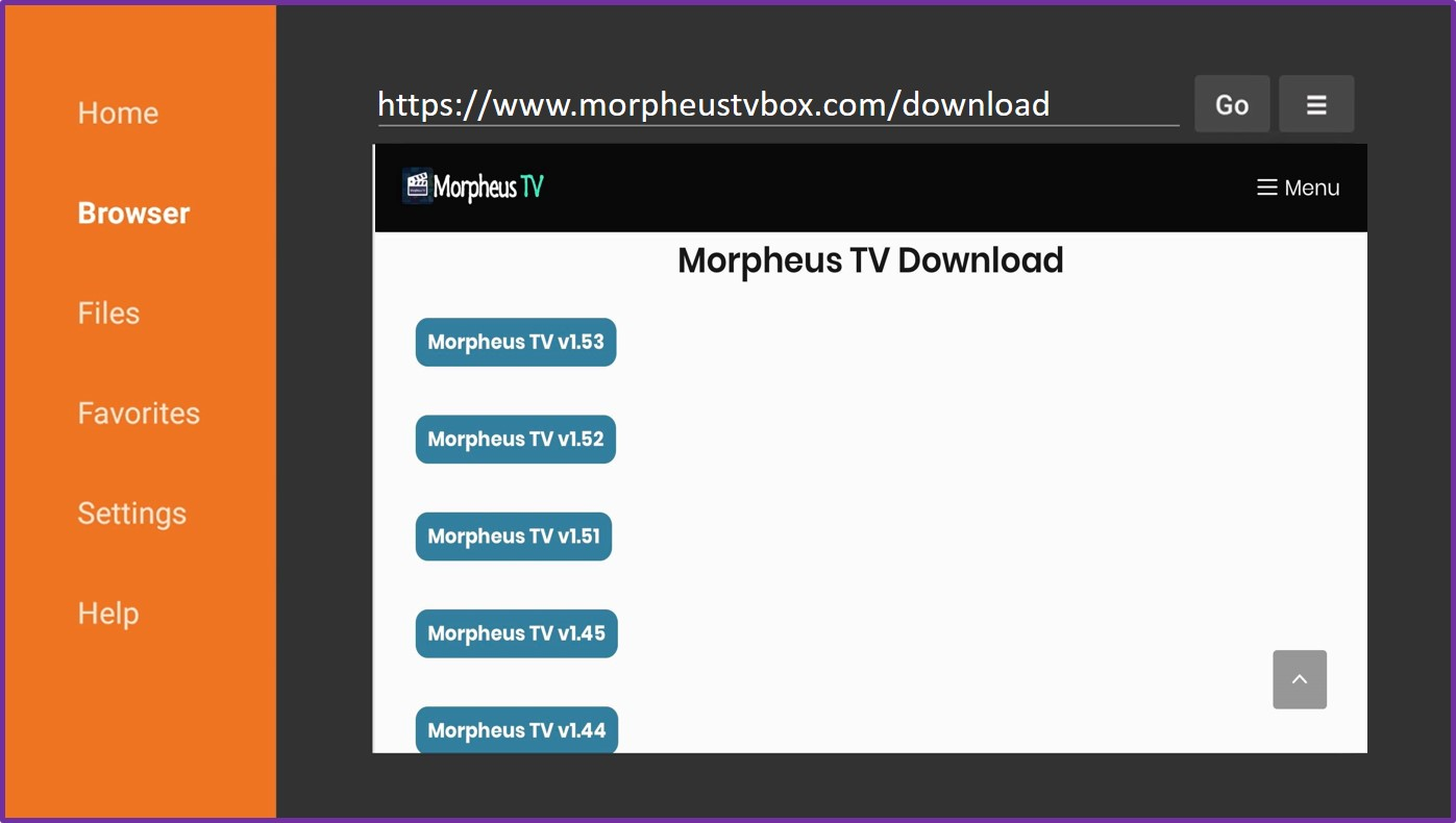 morpheus tv fire stick downloader apk