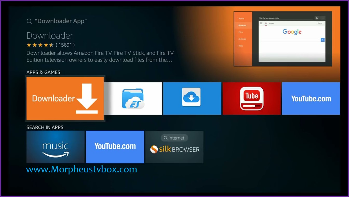 morpheus tv fire stick downloader