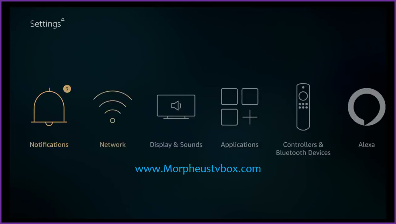 morpheus tv fire stick settings